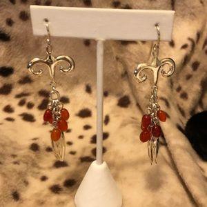 ROBERT LEE MORRIS Carnelian earrings